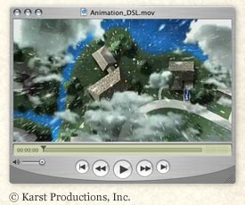 Illustration of video player window